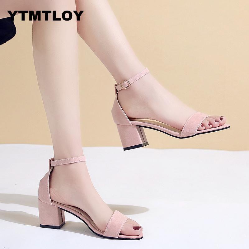 c4dc0206ebb Designer Dress Shoes 2019 Summer Hollow Women Sandals Thick Ankle Strap  Sandalias Mujer Fashion Sandal Female Party High Heels Peep Toe Silver High  Heels ...