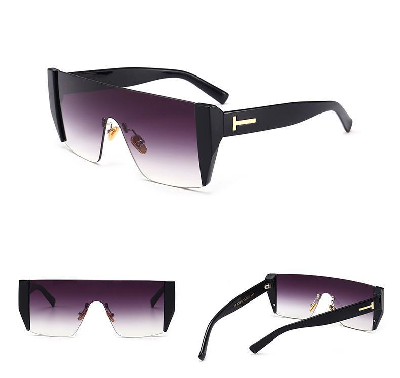 74b7cec674258 Compre 2019 Marca Quadrado Óculos De Sol De Luxo Mulheres Marca Sem Aro  Moda Óculos De Alta Qualidade Uv Óculos De Proteção Eyewear Designer De  Óculos De ...