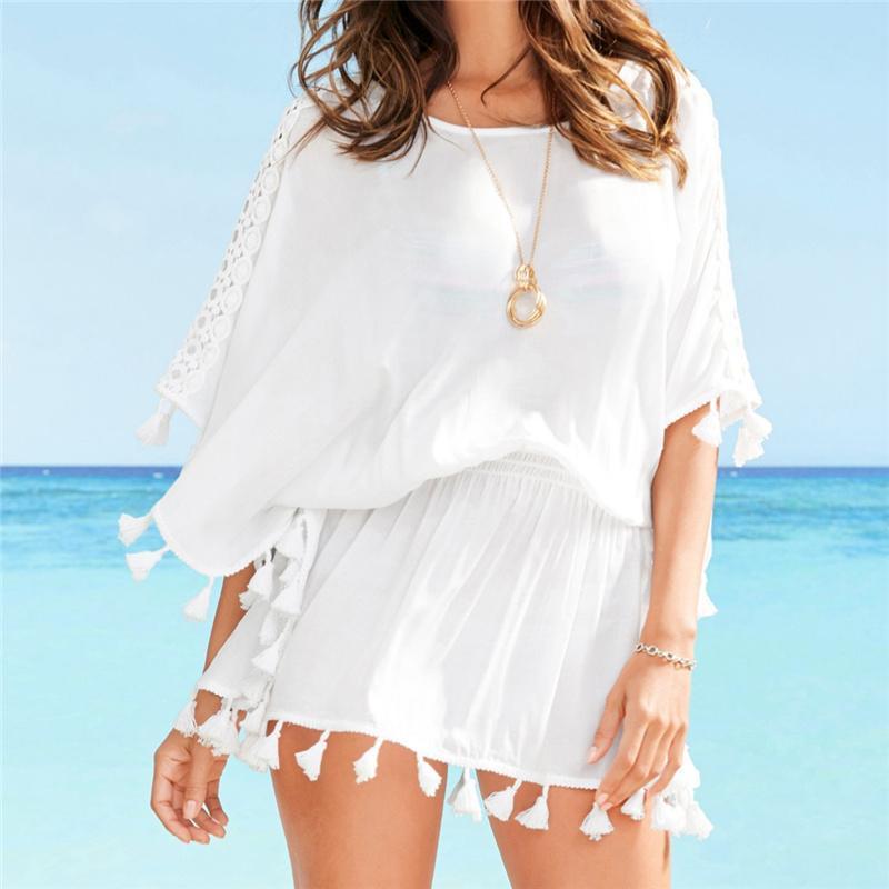 innovative design c763f 1bd08 2019 Quaste Strand Tunika 2019 Sommer Pareo Strand Vertuschen 2019 Bikini  Vertuschen Badeanzug Vertuschen Strand Tunika Kleid Beachwear # Q562