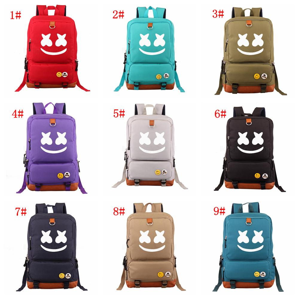 9Styles Marshmello Alone DJ School Bag Teenagers Cosplay Canvas Cosplay backpack Travel Casual Laptop Rucksack shoulder storage Bags FFA2931