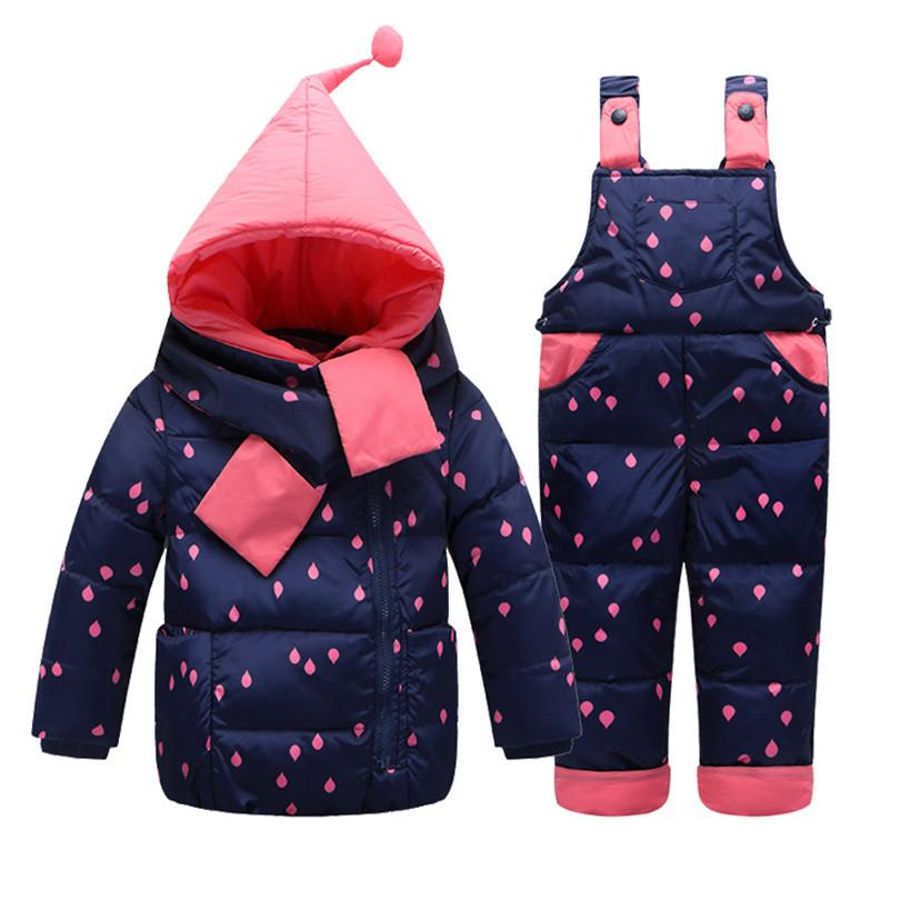 4f8eab98ed6f 2018 New Winter Warm Baby Infant Down Jacket Clothes Set Kids Hooded Jacket  With Scarf Children Boys Girls Coat Pattern Suit Set Toddler Boy Winter  Jackets ...