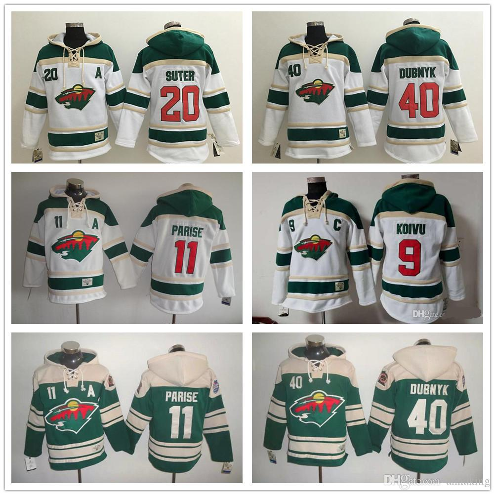 5fc6bae66 Custom Men S Hockey Sweatshirt 2016 Stadium Series Minnesota Wild 40 Devan  Dubnyk 11 Zach Parise 20 Ryan Suter 9 Mikko Koivu Hoodies UK 2019 From  Annaking