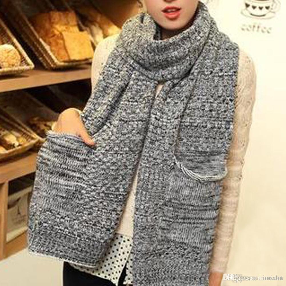 2d93b208e New Fashion Design Winter Scarf For Men Women Scarf Solid Wool Scarves  Sweater Neck Scarf 13.7Inch Unisex Scarfs Scarves For Women From Inoecom