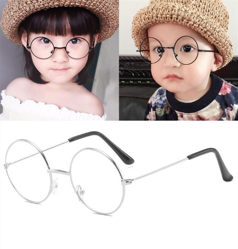 Fashion cool Retro Black Blue Round Kids Sunglasses Brand little girl/boy Baby Child Glasses goggles oculos UV400 Small face