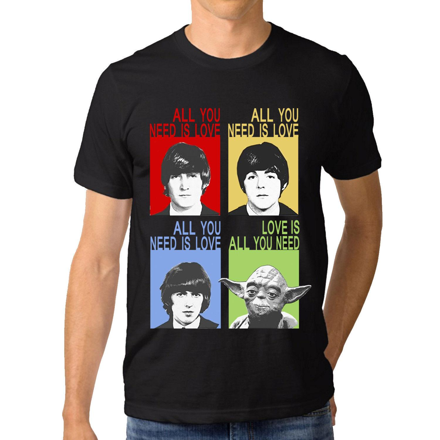 118ed3a9a Funny All You Need Is Love The Beatles Combo Customer 100 Cotton T Shirt  For Men Cool Casual Pride T Shirt Men Unisex T Shirts For T Shirt For From  ...
