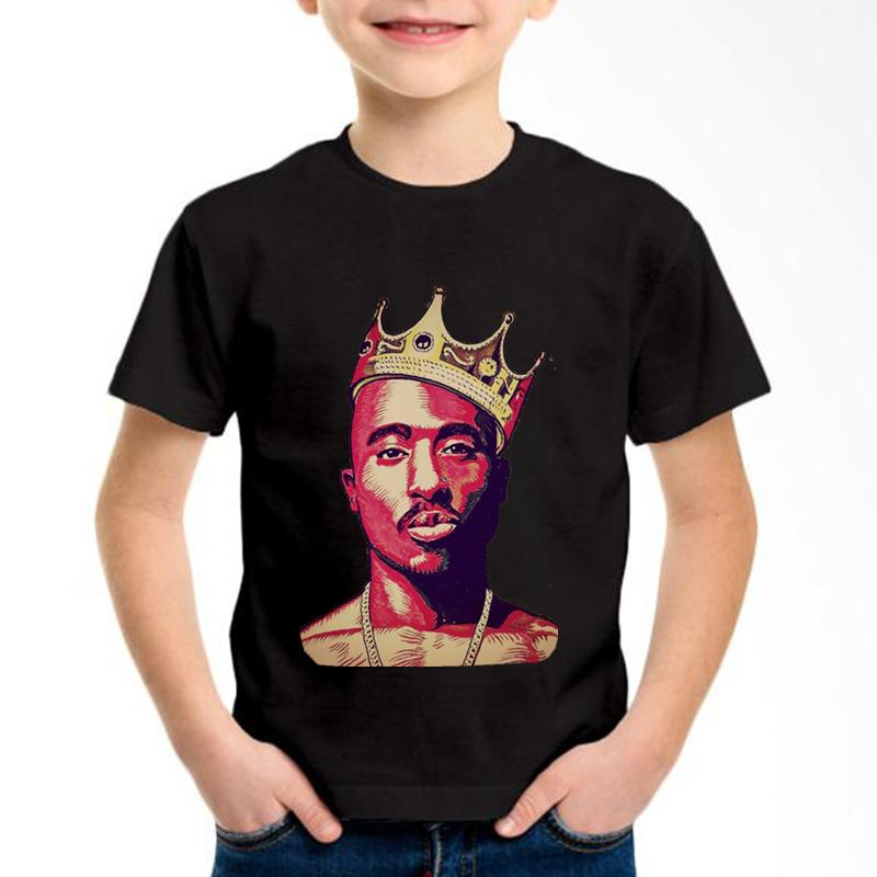 2pac Hip Hop Swag Printed Children Cotton T-shirts Kids Tupac Amaru Shakur Summer Tees Boys/Girls Kpop Tops Baby Clothing,GKT007