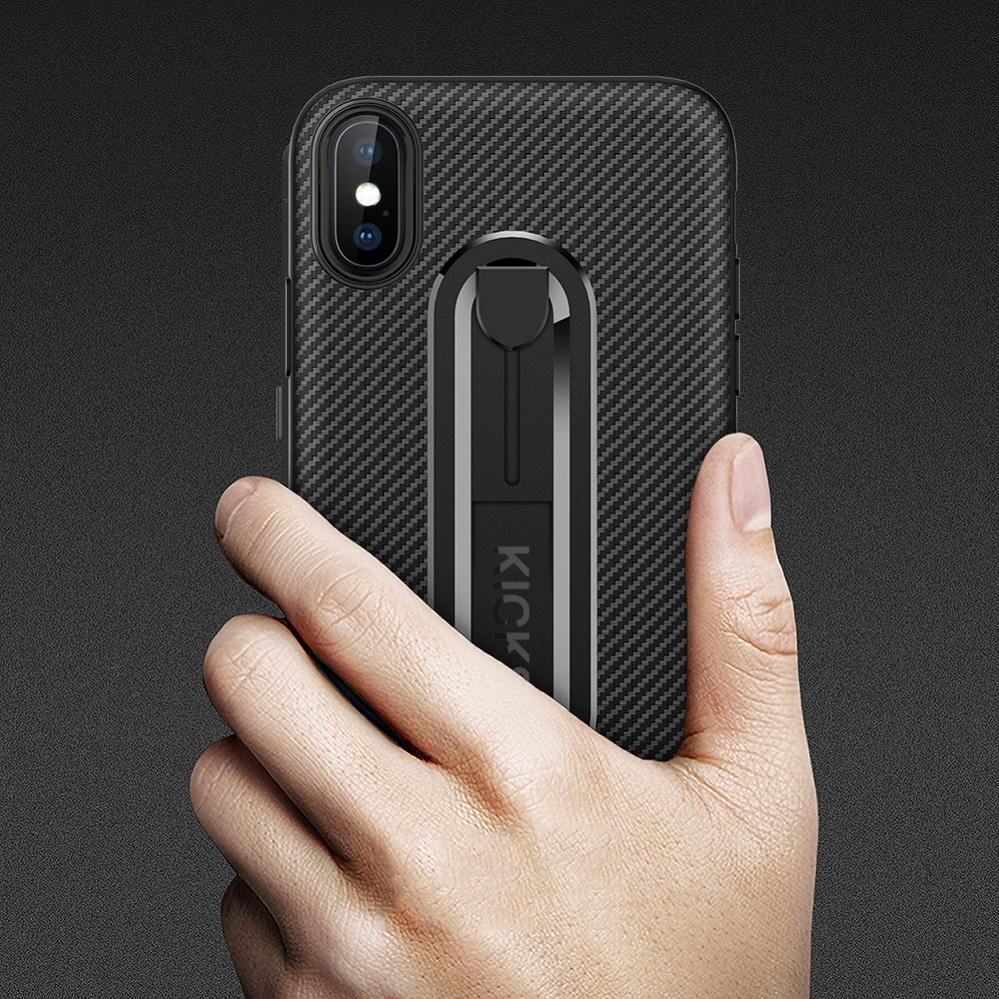 Carbon Fiber TPU Case for OPPO F7 A3 F5 A73 A71 A39 A57 A59 F1S A37 Cover  Built in Kickstand Shockproof Anti-Scratch