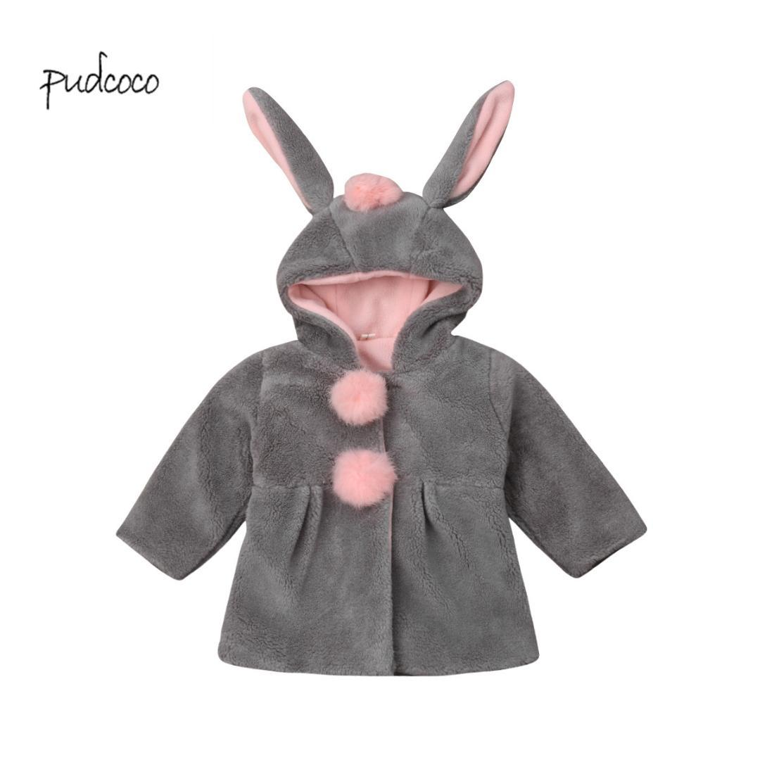 74e590ba673c Pudcoco New Brand Baby Girls Rabbit Ear Bunny Hoodies Coat Hoody ...