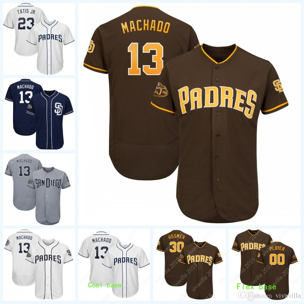 0302b3b9621 2019 13# Manny Machado 50th 150th Anniversary Patch 23 Fernando Tatis Jr.  Eric Hosmer Wil Myers Austin Hedges San Diego Baseball Jerseys From  Vivavilla, ...