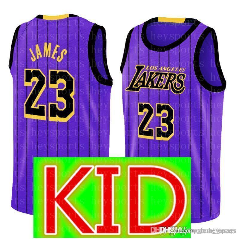 abeb6bc5b KIDS 23 LeBron James Jersey Los Angeles New Youth Lakers 24 Kobe ...