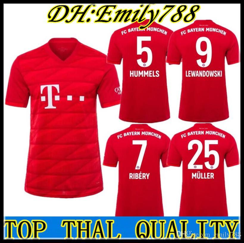 new product 4cee0 0d6f4 Top Thailand Bayern Munich JAMES RODRIGUEZ Soccer jersey 2018 2019 2020  LEWANDOWSKI MULLER KIMMICH jersey 18 19 20 HUMMELS Football shirt