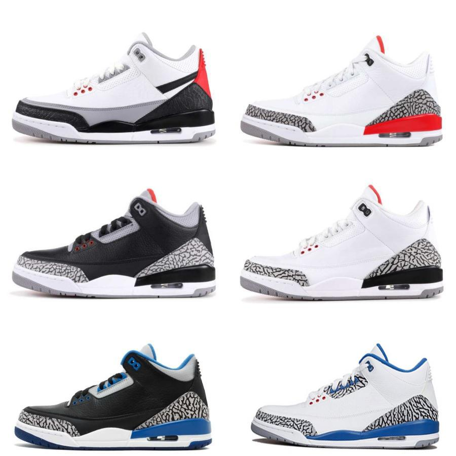 48013d23cde8 Classic III Black White Cement Three Basketball Shoes 3 Tinker Blue  Hurricane Red New 2019 Mens Trainers Sports Designer Sneakers Us 8 13  Basketball ...