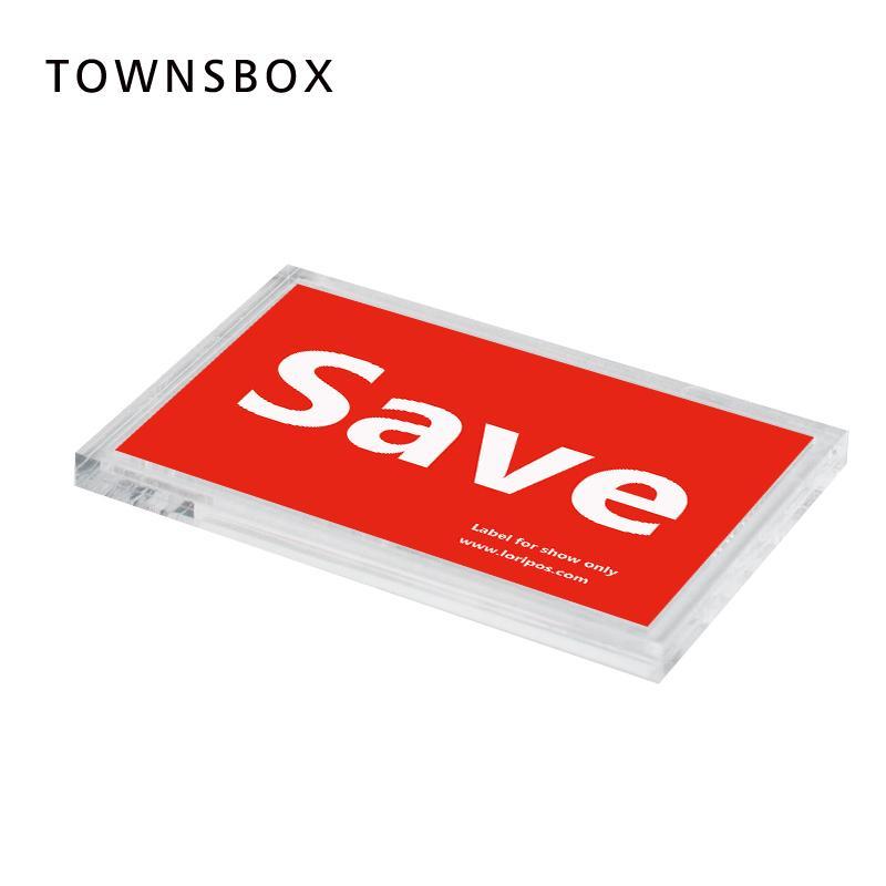 Großhandel Flache Preisschild Name Karte Display Box Acryl Block