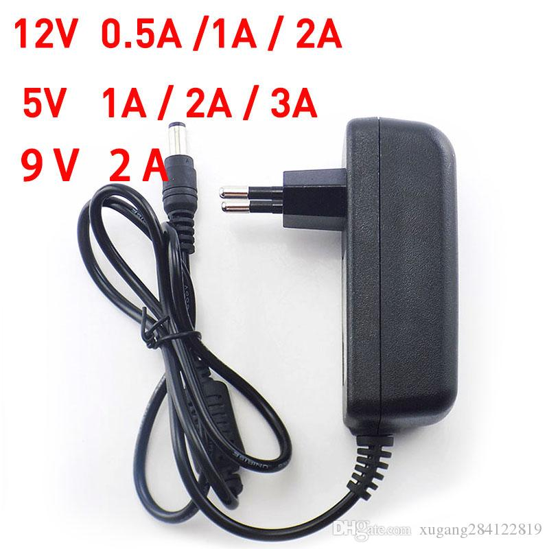 9v 1a Ac Dc Adapter Converter 5.5x2.5mm Switch Power 100v-240v Power Adapter Supply Us Eu Plug Charger For Cctv Led Strip Light Video Surveillance