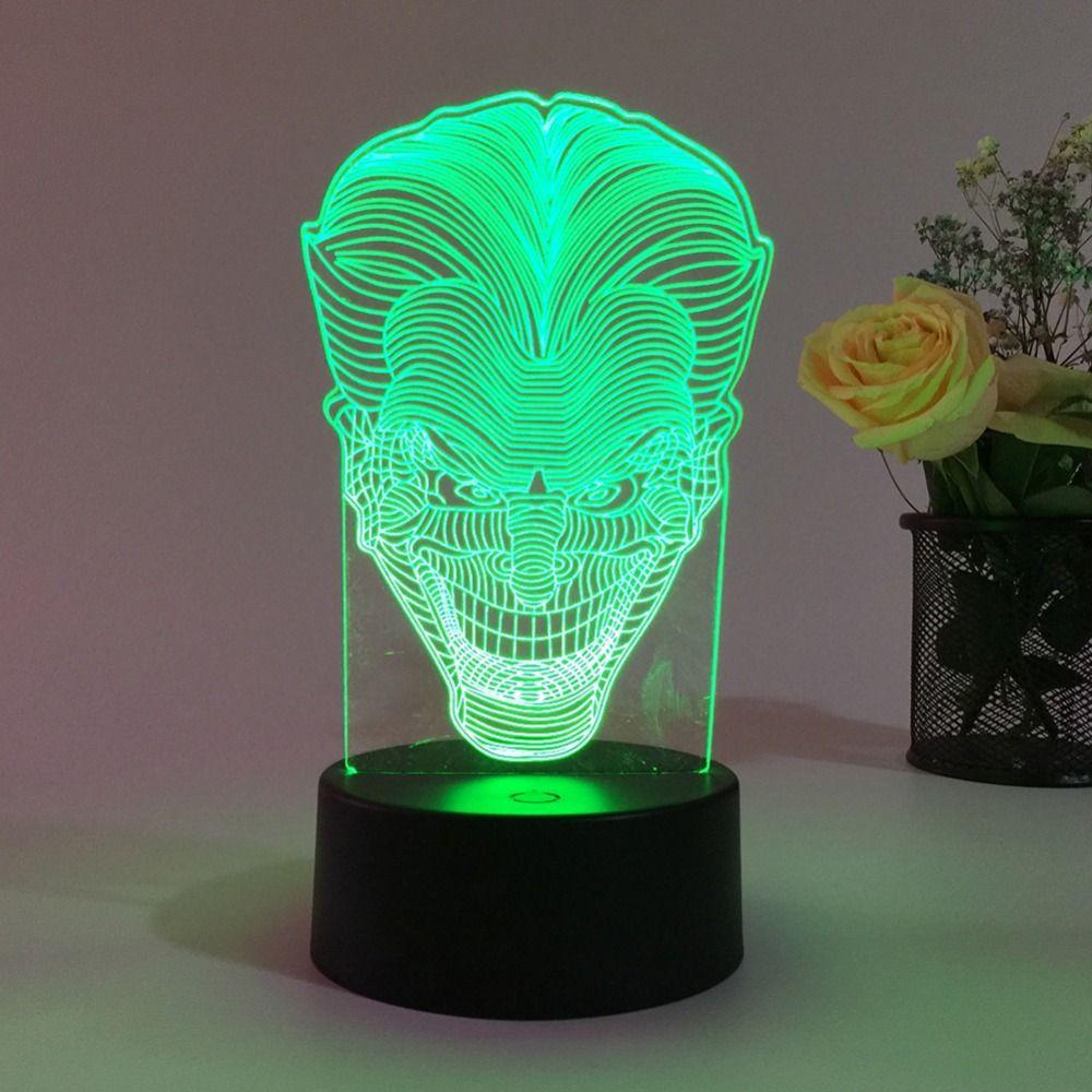 купить оптом новинка 3d светодиодные лампы иллюзия череп головы Usb