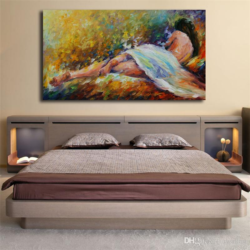 Nudo ragazze donna figura mattina tenerezza tela pittura stampa camera da  letto home decor moderna pittura a olio arte pittura a olio poster artwork
