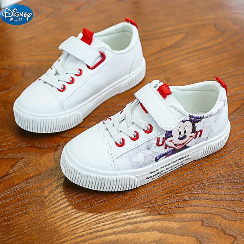 8a1ad80610b8 Kids Red Cartoon Mickey Casual Shoes Disney Girls Princess Soft Pu ...