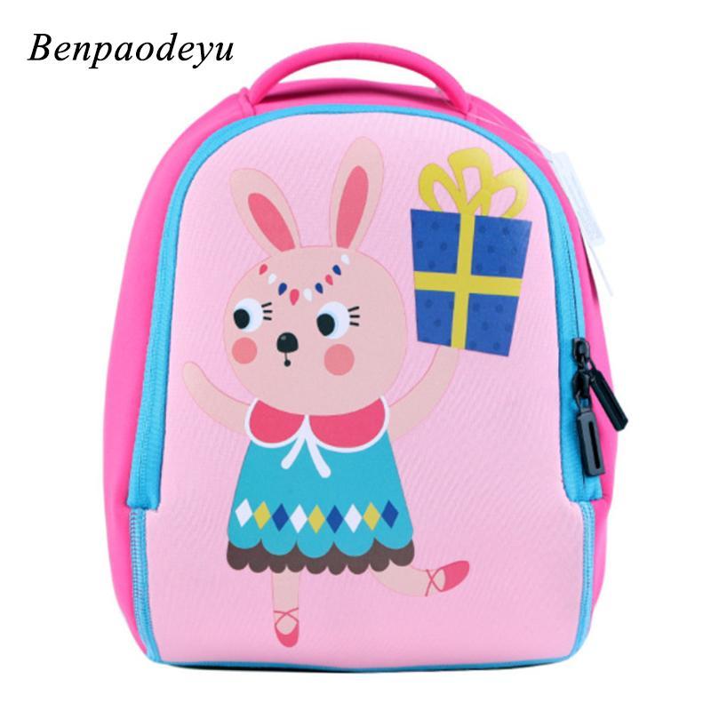 2019 New Kids School Bags Cute Cartoon Kindergarten Bag Waterproof Soft  Comfort Children School Bag Girls Boys Toddler Backpacks Girls Backpacks  Satchel ... 40e70d5123898