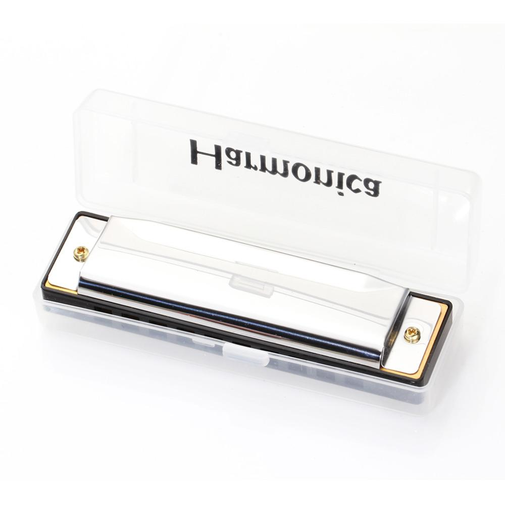 Silver Swan Harmonica 10 Hole Key of C Mouth Organ for Blues Rock Jazz Folk  Harmonicas with Packaging Box