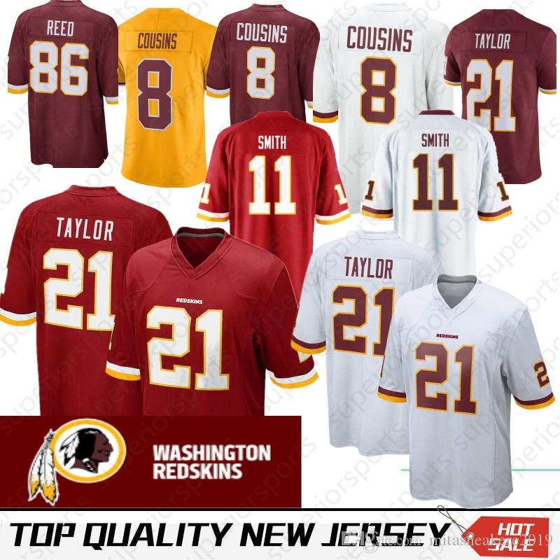 375df0b59ac Washington 11 Alex Smith Redskins Jersey 29 Derrius Guice 21 Sean ...