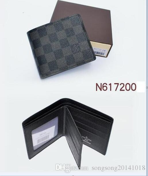 cf542d9ff37f 2019 Louis Vuitton Male Genuine Leather Wallet Casual Short Card ...