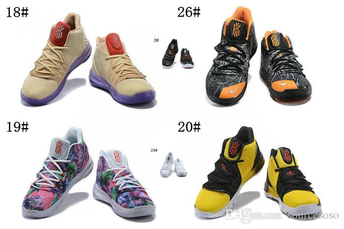 eed880a3f245b 2019 2019 New Concepts X Kyrie 5 TV PE 3 Ikhet Men Basketball Shoes Kyrie 5  Taco PE Black Orange Woodland Camouflage Mens Sports Sneakers From  Sourcesoso, ...
