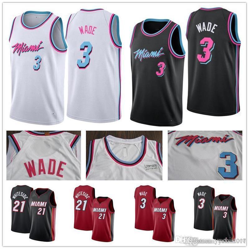 2019 2019 Cheap Heat CITY EDITION Jersey 3 Dwyane Wade Miami 7 Goran Dragic  21 Hassan Dwayne Whiteside Stitched Whosale Basketball Jerseys From  Yuchistore 22ee35886