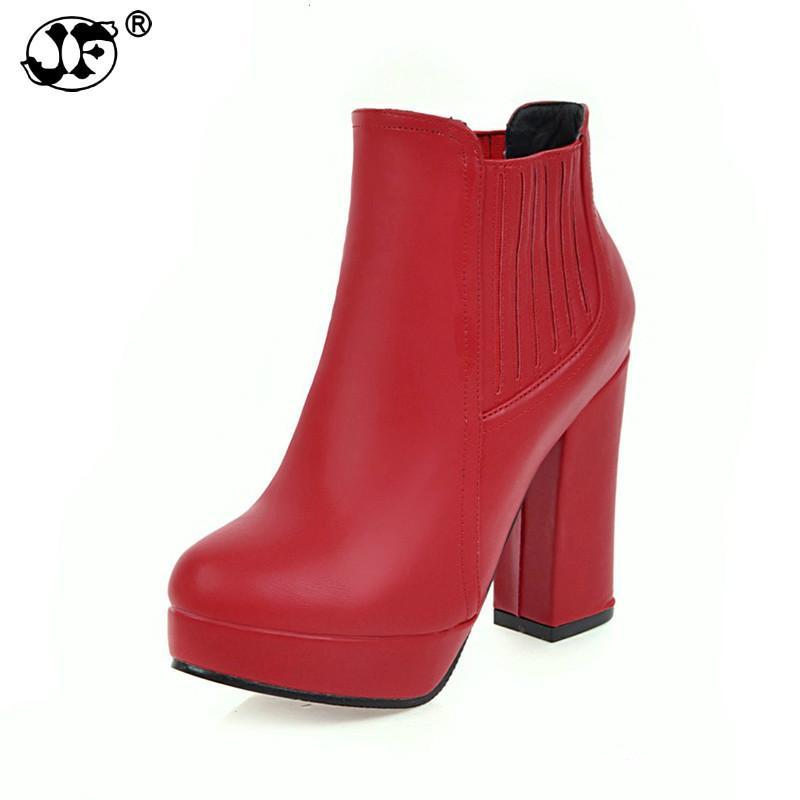 898edd47f312e Compre 2018 De Gran Tamaño 32 48 Plataforma De Deslizamiento En Los Zapatos  De Mujer Mujer Moda Tacones Altos Botines Botines Casuales De Calidad  Superior ...