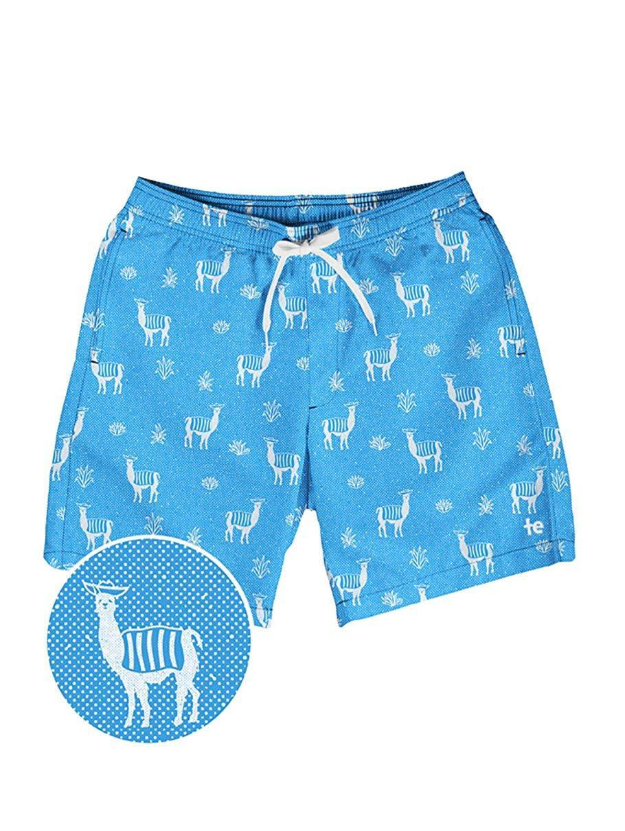 bbb9fe0740 Tipsy Elves Men's Short Swim Trunks - Bright Neon Board Shorts for Vacation