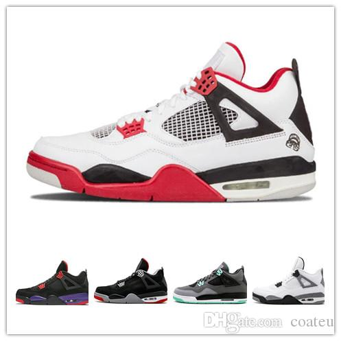 7c7d92c8955d 2019 2019 Bred 4 Basketball Shoes 4s Pale Citron Pizzeria Lightning Singles  Day Tattoo LASER Hot Punch Oreo Mens Sports Sneakers 7 13 From Coateu, ...