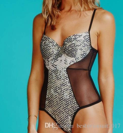 008a01de4bfba 2019 Beachwear Women Mesh Swimwear 2019 Sexy Summer Beach Swimming Monokini  Bodysuits One Piece Swimsuit Lady Swim Wear Push Up Bathing Suit From ...
