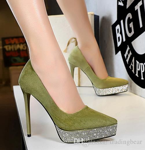 with box royal blue rhinestone pointed designer heels stiletto heels prom gown dress shoes red yellow green beige size 34 to 40
