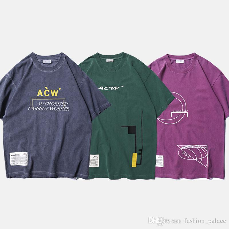 b804062d47a A Cold Wall Short Sleeve T Shirt ACW Logo Print Vintage Tee Men Women  Design Hip Hop Top Best Quality ACW T Shirts CLI0318 White T Shirts With  Designs Cloth ...
