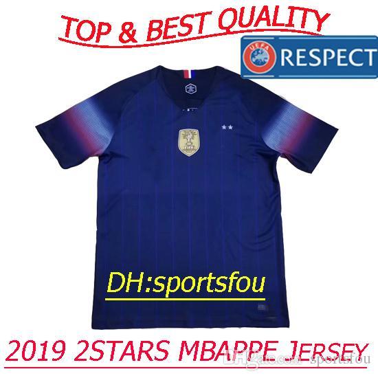 Compre Tailândia Seleção Nacional 2019 Camisas De Futebol France 2 Estrelas  Pogba PAYET MBAPPE Camisa GRIEZMA KANTE 2018 Camisas Da Copa Do Mundo De  Futebol ... d69ff188e46c0