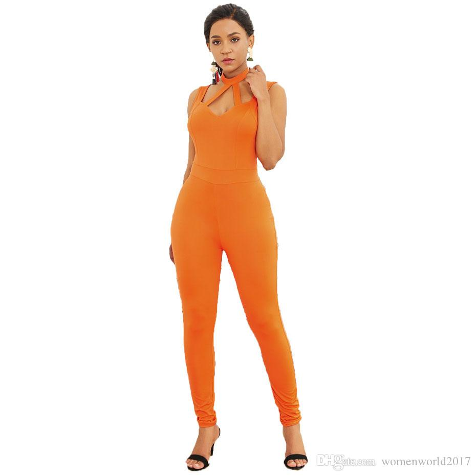 Hollow Out Rompers Womens Jumpsuit Sleeveless Long Jumpsuits Spring Elegant Casual Office Lady One Piece Women Overall