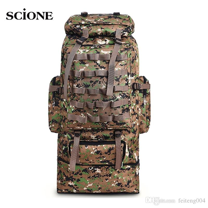 56beea816 2019 100L Military Backpack Molle Camping Bag Rucksack Tactical Backpack Men  Large Hiking Army Travel Outdoor Sport Bags Sack XA231WA #108487 From ...