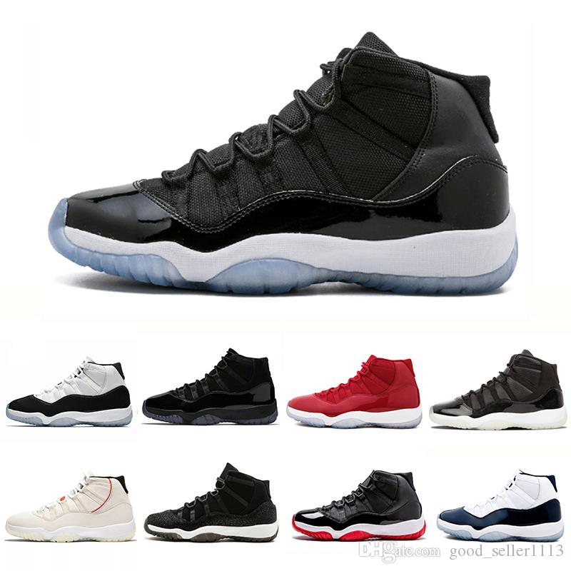 official photos 800d7 0210f 2019 Bred 11s Space Jams Concord 45 XI 11 Men Women Basketball Shoes Cap  and Gown Prom night PRM Heiress sports Sneaker 36-47
