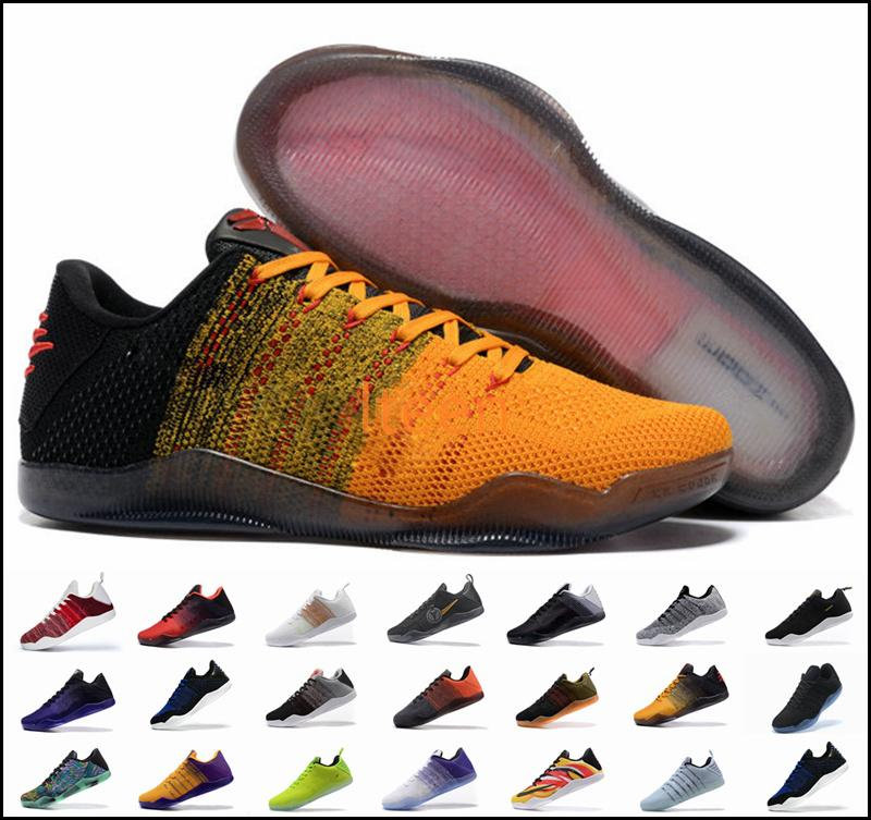 11e75b10a85b 2019 Cheap Sale Kobe 11 Low Basketball Shoes Sports For Top Quality Men KB  11s Mentality 3 3M Black Wine Red Training Sneakers 7 12 From Naikexie
