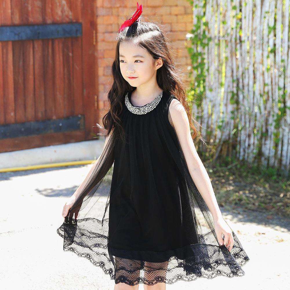 e3c57f423 2019 2018 New Fashion Baby Girls Dress Summer Girl Children Beach ...