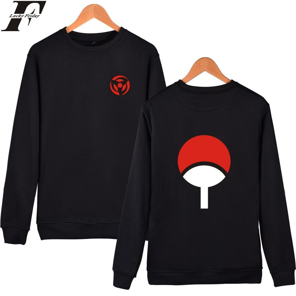 LUCKYDAYF Naruto Classique Anime Capless Hoodies Et Sweat-shirts Pour Les Couples Hokage Ninjia Hoodies Hommes Uchiha Syaringan Vêtements S18101705