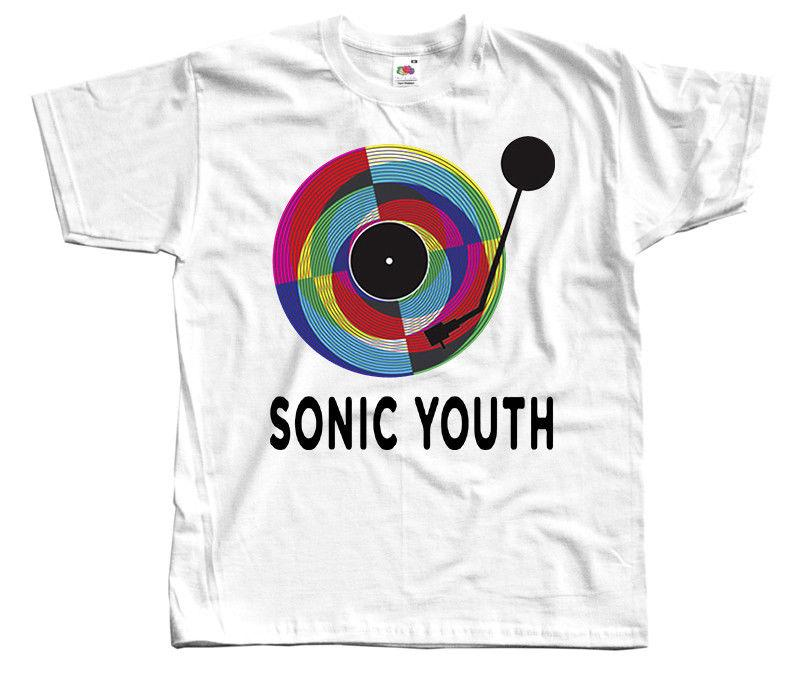 856579ac Sonic Youth V5, Rock Band, Poster, T SHIRT WHITE S 5XL Custom T Shirt Logo  Text Photo Mens Womens T Shirt Men Tshirt Worlds Funniest T Shirts Cool Tee  ...