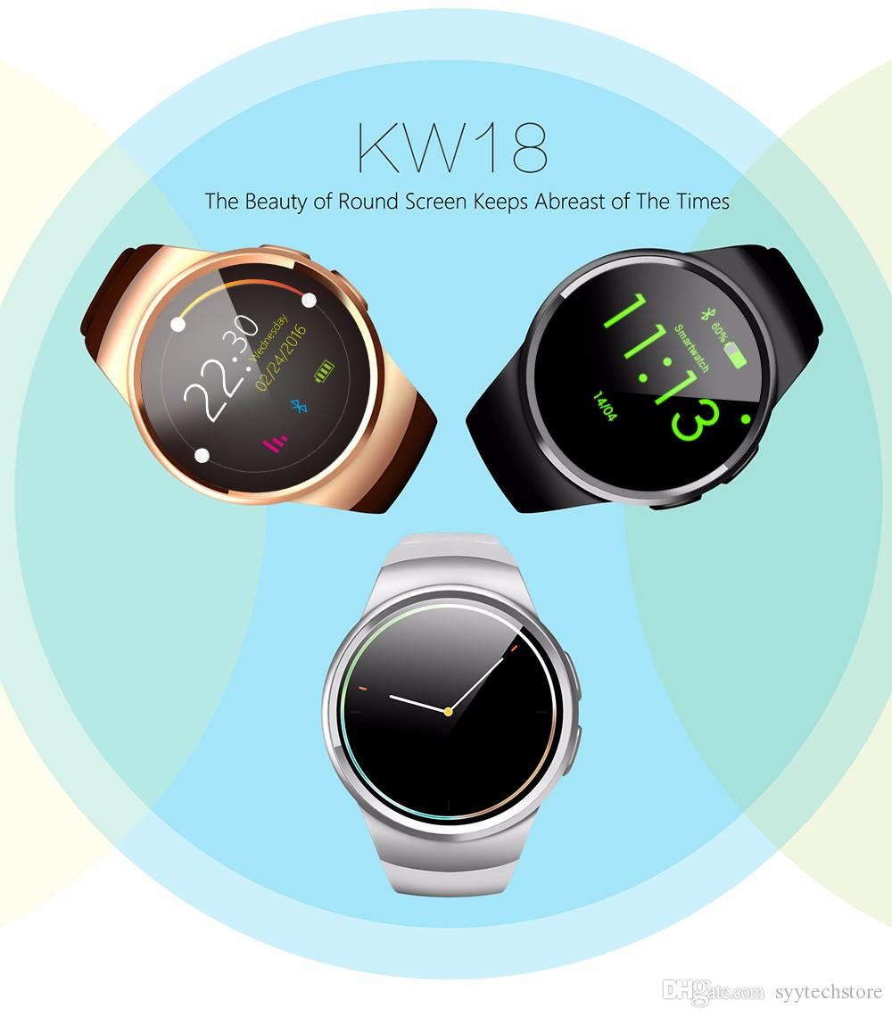 8a0d53dad Wear KW18 Smart Watch Waterproof BT 4.0 Pedometer Heart Rate Monitor Watch  With SIM Card For Sport IOS Android Kw88 Q18 Echo Smart Watch Free Smart  Watch ...