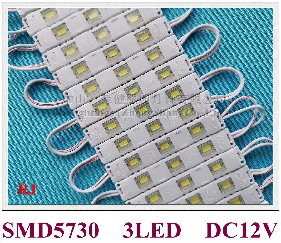 New arrival injection with lens LED module waterproof SMD 5730 LED backlight back light DC12V 0.8W 3led IP65