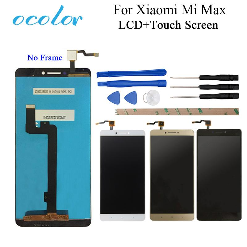 obile Phone Accessories Mobile Phone LCD Screens ocolor For XiaoMi MI MAX LCD Display And Touch Screen Screen Digitizer Assembly Replacem...