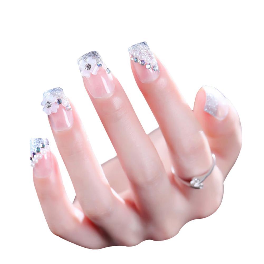 Acrylic Artificial False French Nail Tips Fake Nails For Wedding