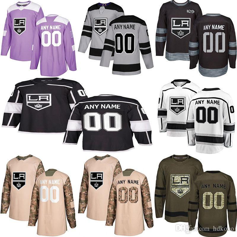 Maglie New York New York Re Hockey Re stili multipli Mens personalizzato Los Angeles Kings Qualsiasi nome Qualsiasi numero Hockey maglie