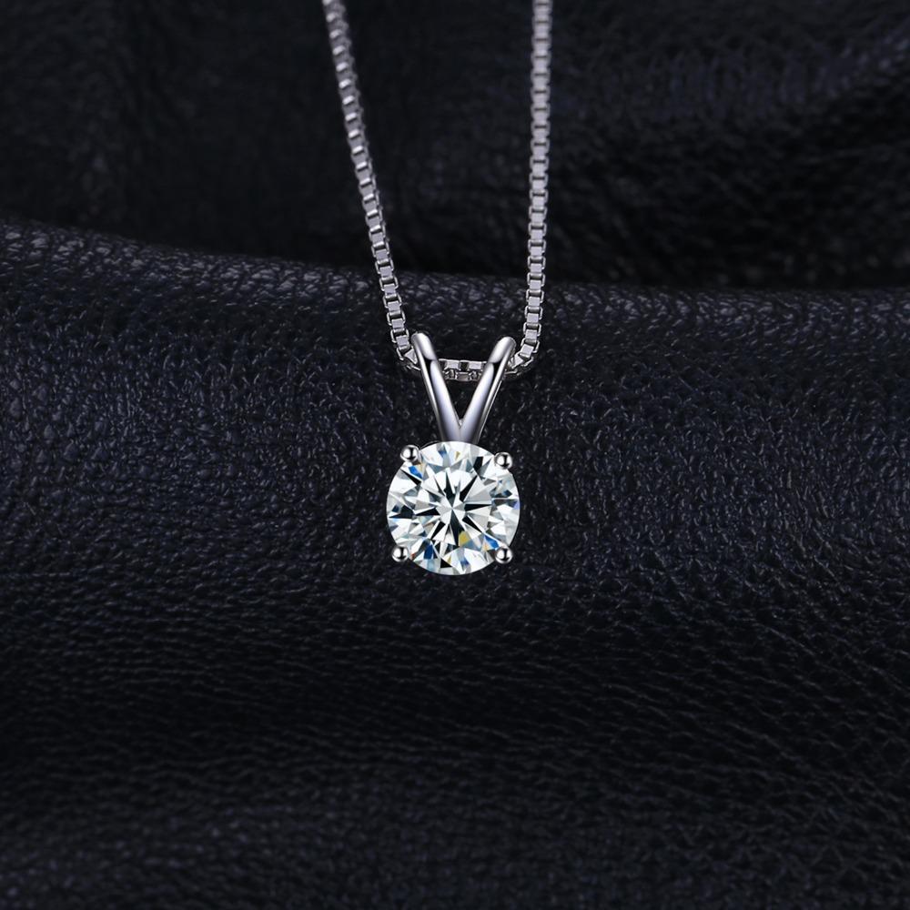 ac14fdcc6ee9 Compre Regalos Para Mujeres JewelryPalace Classic Round 1ct Real 925 Joyas  De Plata Solitario Colgante Collar 18 Cadena Fahion Regalo Para Mujeres A   114.59 ...