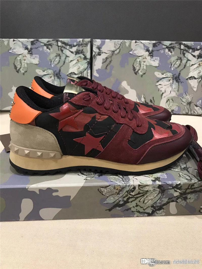 5a7a27df210be 2019VALENTINO Garavani ULTRA RARE Red Camo Fashion Sneaker Shoes Italy  sneakers With Box