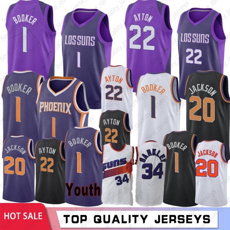 quality design c65f8 da57b 2019 City Purple 1 Devin# Booker Phoenix Jerseys Suns # 20 Josh #Jackson  #22 DeAndre # Ayton Basketball Jerseys
