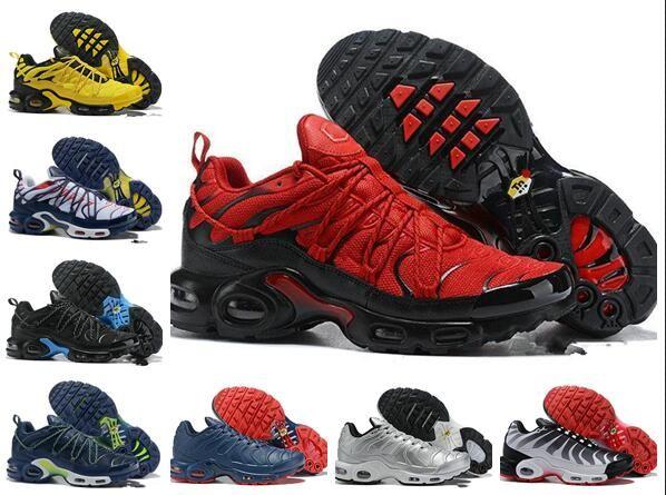 2019 Original Tn Plus Drake Ice Blue Tns Zapatillas para correr Más Tn SE Champagnepapi 3M Amarillo Negro Hombres Chaussures Tamaño EE. UU. 7 11